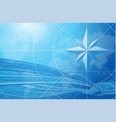 Blue compass background vector