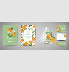 Botanical wedding invitation card save date vector