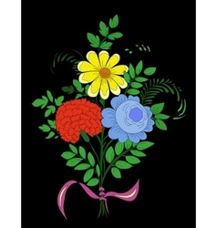 Bouquet of beautiful flowers Floral background vector image