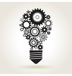 bulb cogs vector image