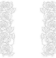 Carnation flower outline border vector
