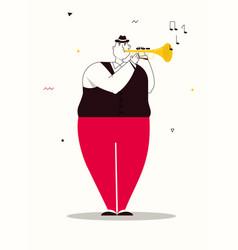 character jazz band perform vector image