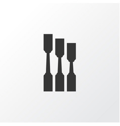 chisel icon symbol premium quality isolated vector image