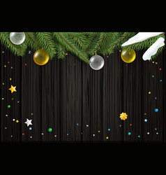 christmas wishes card template top view vector image