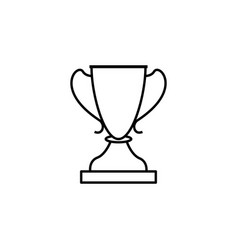 cup winner sport outline icon element of winter vector image