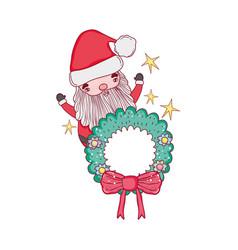 cute christmas santa claus character vector image