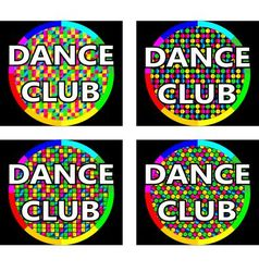 Dance club logo concept vector image