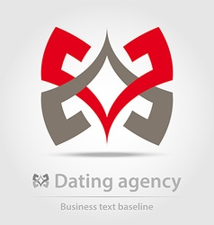 Dating agency business icon vector