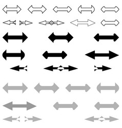 double arrows vector image