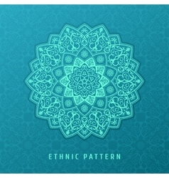 Ethnic pattern mandala design for vector image