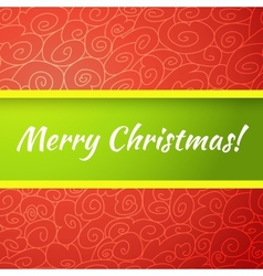Excellent bright merry christmas greeting card vector image