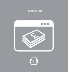 financial internet services - sterling vector image