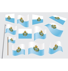 flag of San Marino vector image