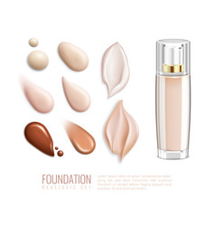 foundation realistic smears icon set vector image