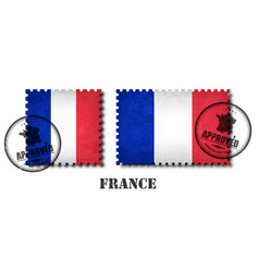 France or french flag pattern postage stamp vector