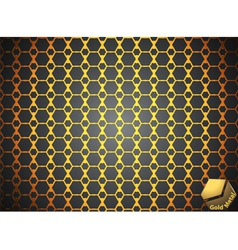 Gold metallic abstract background vector image