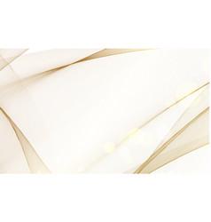 golden magic wave background vector image