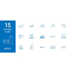 heavy icons vector image