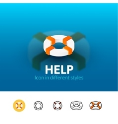 Help icon in different style vector