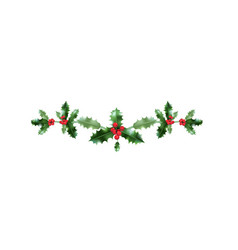 Holiday christmas holly vector