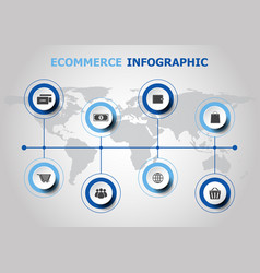 infographic design with ecommerce icons vector image