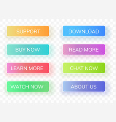interface gradient buttons vector image