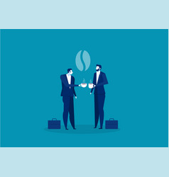 International coffee day business colleagues vector