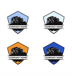 jeep day car logo vector image