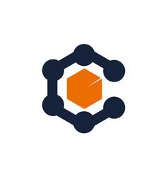Letter c core technology vector