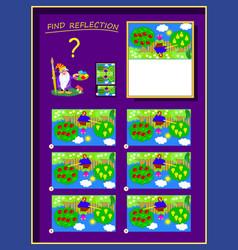 Logic puzzle game for smartest help artist vector
