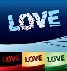 Love broken vector
