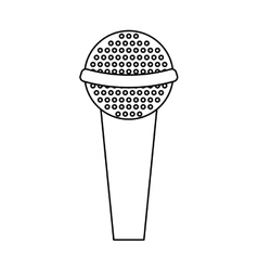 Microphone retro device icon vector