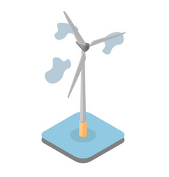 model wind driven generator vector image