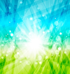 Modern abstract background with sun rays vector