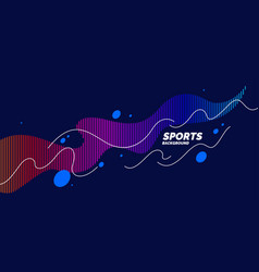 Modern colored poster for sports bright poster vector