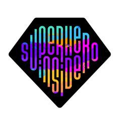 modern super hero inside lettering great design vector image