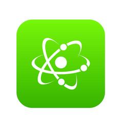 molecule icon green vector image