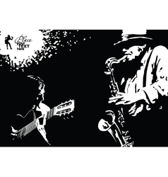 musician grunge vector image