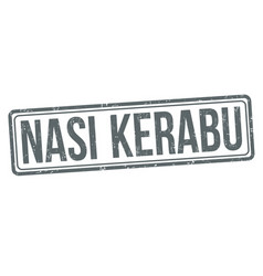Nasi kerabu sign or stamp vector