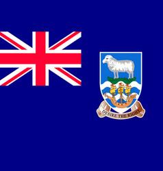 National flag falkland islands vector
