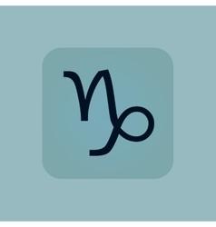 Pale blue Capricorn icon vector