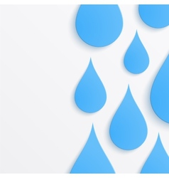 Paper water drop abstract background vector image