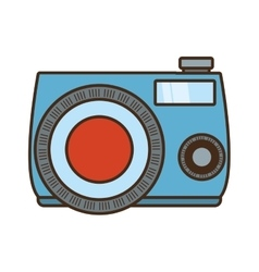 Photo camera picture vacation vector