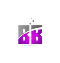 Pink grey alphabet letter combination bb b b for vector