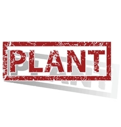 PLANT outlined stamp vector