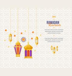 Ramadan kareem greeting card with picture vector