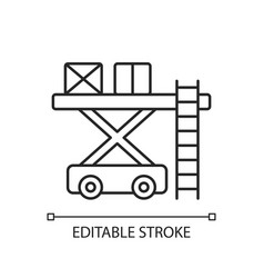 Ramp services chalk linear icon vector