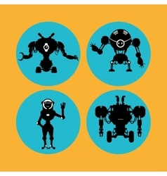 Robot and technology design vector image