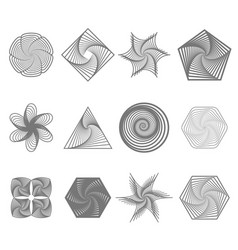 set of different geometric ornaments vector image