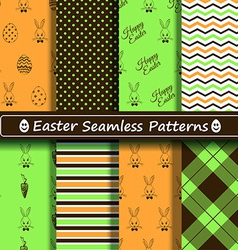 Set of scrapbook Easter seamless patterns vector image